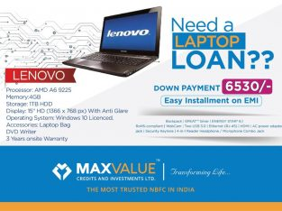 Laptop Available on EMI at MaxValue Anchal