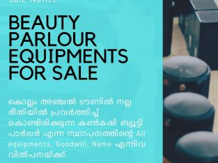 Beauty parlour for sale with all equipments