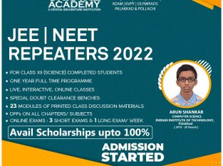 Admission Open for JEE/NEET Repeaters Batch | New